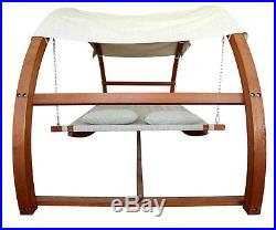 Leisure Season Swing Bed with Canopy (model SBWC402)