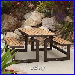 Lifetime 60054 Convertible Bench / Table, Faux Wood Construction