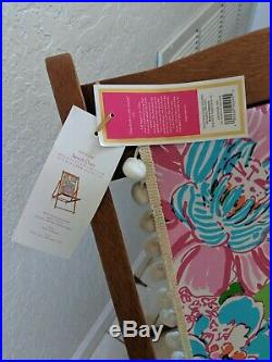 Lilly Pulitzer for Target Teak Beach Chair Nosie Posey