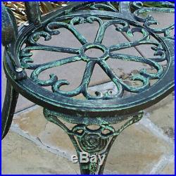 Love Seat Cast Iron Antique Designed Outdoor Patio Porch Home Pool Garden Green