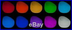 Luminatos 1.1 LED Sessel leuchtet Farbwechsel Fernbed. Akku Betrieb Leuchtsessel
