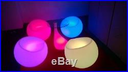 Luminatos 6 LED Sessel beleuchtet Farbwechsel Fernbedienung Akku Leuchtsessel