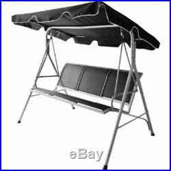Luxury Swinging 3 Seater Garden Hammock Swing Chair Outdoor Bench Seat Lounger