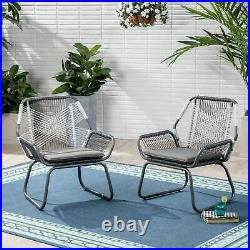 Lydia Outdoor Faux Rattan Club Chair (Set of 2)