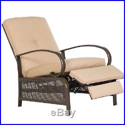 MOOSN Adjustable Recliner Chair Cushioned Chaise Lounge Backrest Patio Outdoor