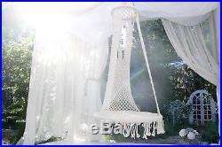 Macrame Swing Garden Outdoor Woven Hanging Chair Home Cotton Hammock