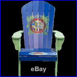 Margaritaville Painted Wood Patio Adirondack Chair, Port of Indecision