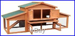 Merax 70 Wooden Rabbit Hutch Chicken Coop House Cage Small Animals with2 ramp