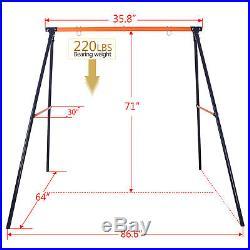 Metal A-Frame Swing Stand Fun Play + Large 40Platform Saucer Tree Swing 440LBS