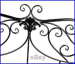 Metal Yard Patio Garden Bench 2 or 3 seat Chair Indoor Decor Furniture Gift