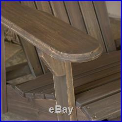 Milan Outdoor Folding Adirondack Chair (Set of 2)
