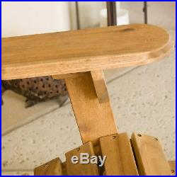 Milan Outdoor Folding Wood Adirondack Chair
