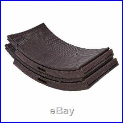 Mix Brown Folding Patio Rattan Chaise Lounge Chair Outdoor Furniture Pool side