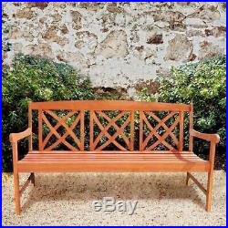 NEW 5 Foot Long Outdoor Garden Bench Park Lawn Patio Furniture Eco Friendly Wood