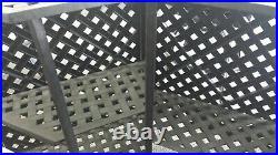 Nassau Outdoor Patio Party Bar Table Cast Aluminum Dark Bronze