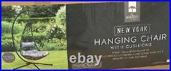 New York Hanging Egg ChairOutdoor Garden Chair FurnitureBoxed Ready To Go