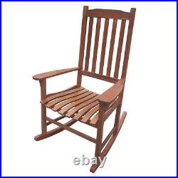 Northbeam Acacia Wood Traditional Rocking Chair, Natural Stained (Open Box)