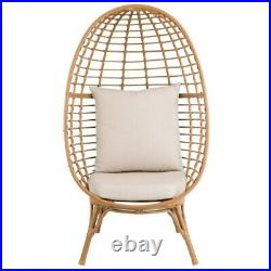 Novaro Garden Egg Chair Brown