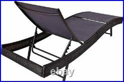 OAKVILLE FURNITURE Outdoor Patio Rattan Wicker Adjustable Pool Lounge Chair