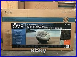OVE Woven Swivel Patio Chair with Sunbrella Cushion