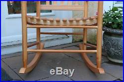 Oak Wooden Rocking Chair Porch Rocker Indoor Or Outdoor Deck Patio Backyard New