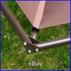 Outdoor 3 Person Patio Swing Chair Garden Hammock Canopy Awning Bench Seat New