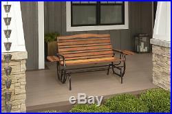 Outdoor Bench Glider Rocking Chair 2 Person Seat Patio Garden Porch Furniture