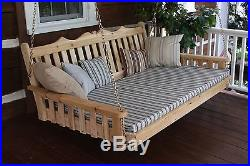 Outdoor CEDAR 6 Ft Royal English Garden Porch SWING BED UNFINISHED Oversized