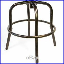 Outdoor Cast Aluminum Swivel Bar Stool Patio Furniture Antique Copper Design