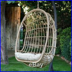 Outdoor Egg Chair Stand Hanging Resin Wicker Basket Deck Patio Furniture