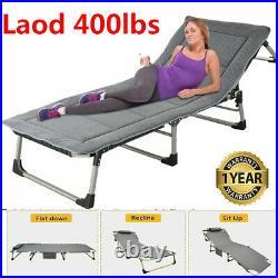 Outdoor Folding Reclining Beach Sun Patio Chaise Lounge Chair Pool Lawn Lounger