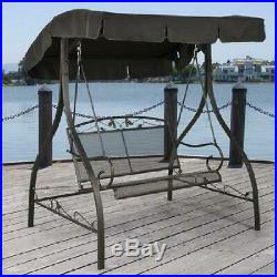Outdoor Furniture Metal Rustic Patio Swing Canopy Porch Chair Bench Deck Awning