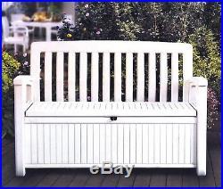 Outdoor Furniture Storage Deck Box Keter 60 Gallon Patio Pool Bench Seat