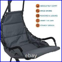 Outdoor Garden Hanging Swing Chair Sun Lounger Grey Hammock Seat Patio