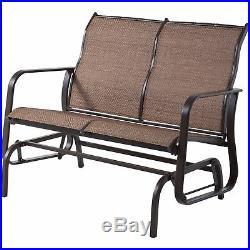Outdoor Glider Bench Patio 2 Person Rocking Chair Rocker Porch Swing LoveSeat
