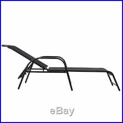 Outdoor Patio Chaise Lounge Chairs Sling Lounges Recliner Adjustable Back