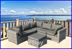 Outdoor Patio Furniture Corner Sectional Sofa- No Assembly with FREE patio cover