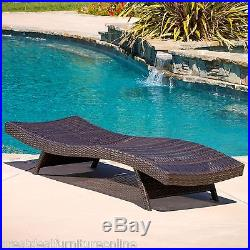 Outdoor Patio Furniture PE Wicker Adjustable Pool Chaise Lounge Chair