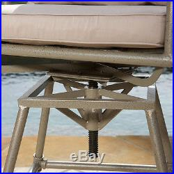 Outdoor Patio Furniture Pipes Design Adjustable Height Swivel Bar Stool