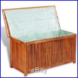 Outdoor Patio Garden Acacia Wood Storage Deck Box Chest Pool Yard Lawn Furniture