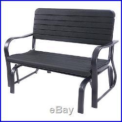 Outdoor Patio Swing Porch Rocker Glider Bench Loveseat Garden Seat Steel