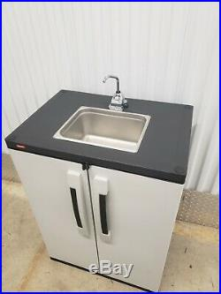 Outdoor Portable sink hand pump self contained no electricity needed