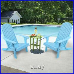 Outdoor Reclining Wood Adirondack Chair Baby Blue Folding And Reclining Wood