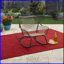 Outdoor Rocking Chair Modern Design Porch Deck Patio Furniture Garden Rocker New