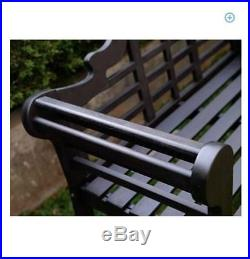 Outdoor Solid Wood Bench Patio Chair Garden Furniture Backyard Park Porch Seat