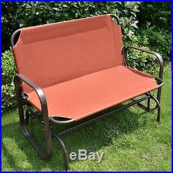 Outdoor Swing Glider Bench 2 Person Porch Loveseat Rocking Chair Patio Garden