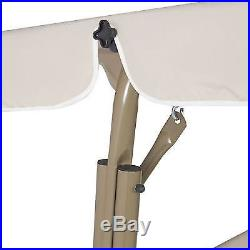 Outdoor Swing Seat Glider Hammock Sunshade Canopy Patio Backyard Furniture Beige