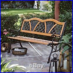 Outdoor Wooden Garden Bench Park Patio Backyard Porch Deck Poolside Loveseat