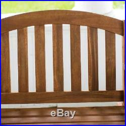 Outdoor Wooden Single Seat Porch Swing Hanging Chair Furniture Tree Backyard