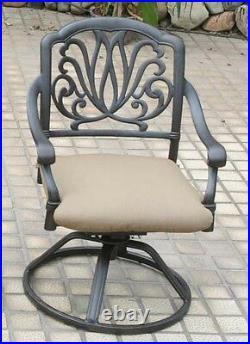 Outdoor dining chairs patio seat swivel rocker cast aluminum Elisabeth furniture